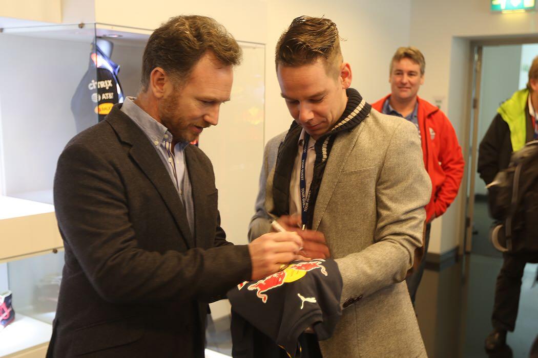 Red Bull F1 trophy Klomp & Gijzen Milton Keynes
